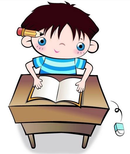 孩子和妈妈看书简笔画