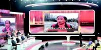 图为:武汉电视问政现场。播放的短片中,市民正反映工地施工扬尘问题。(湖北日报全媒记者倪娜摄) - 新浪湖北