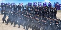 武汉公安集结2000精兵实战演练 誓师保障军运会(图) - 新浪湖北