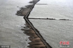 长江武汉段水位降低 江面中心现石子小路 - 新浪湖北