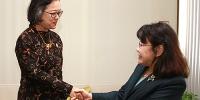 张海迪会见联合国亚太经社会执秘阿里沙赫巴纳 - 残疾人联合会