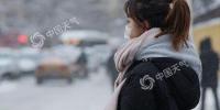 昨天,哈尔滨雪花纷飞降温明显,行人捂得很严实。(图/吕国君) - 新浪湖北
